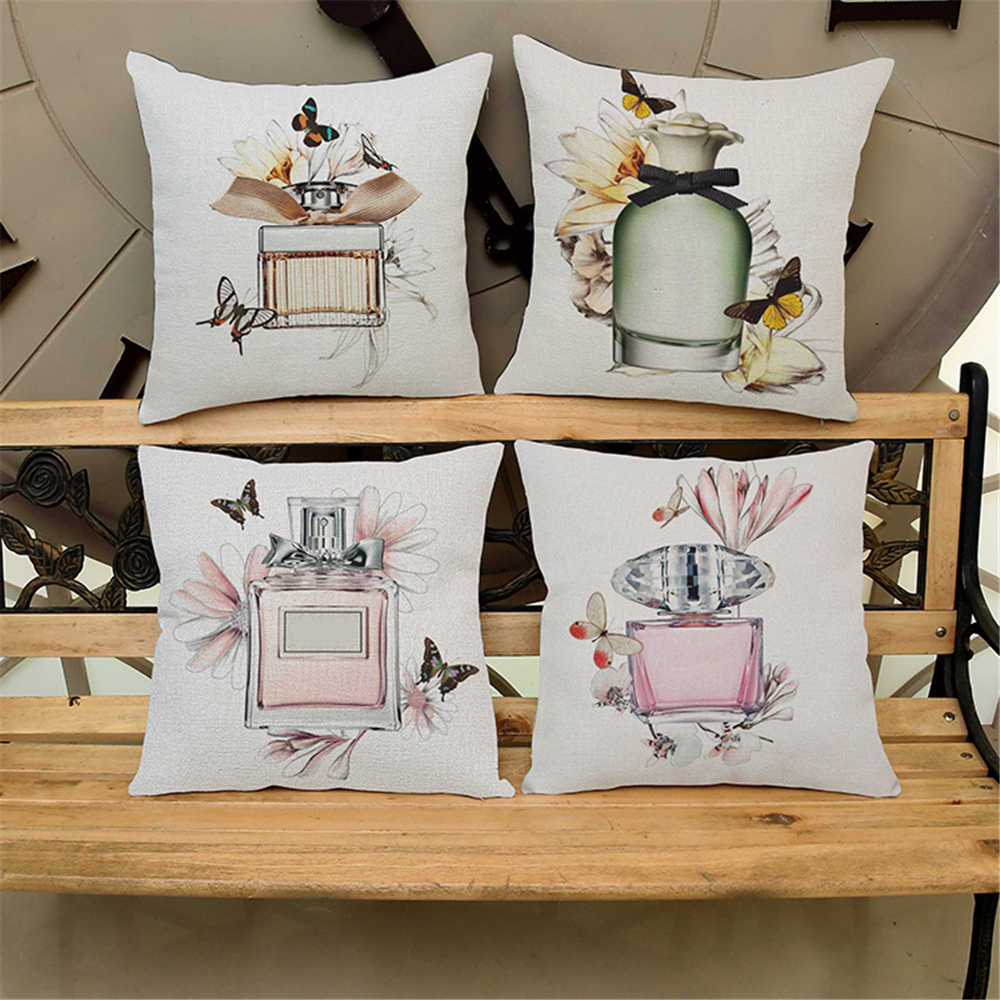 Pillow Covers Decorative Throw Pillows Case Vogue Girls Beauty Fashion Cushion Cover for Sofa Home 18x18 inch Pillowcase 5