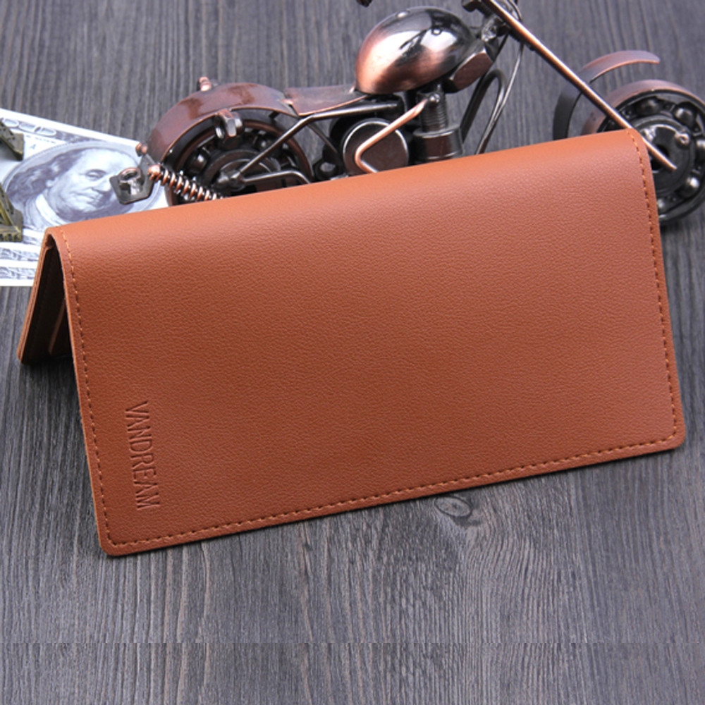 High Quality Leather Wallet Long Clutch Wallets Men Business Slim Card Holder For Men New 2019 HotBifold Purse Fashion Male 816