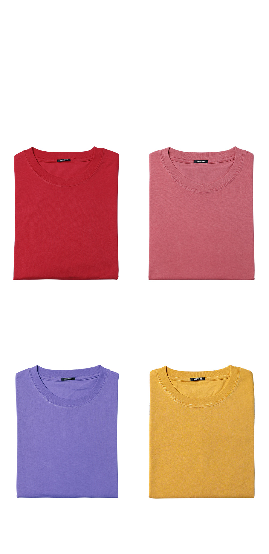 SIMWOOD 19 Summer New T-Shirt Men 100% Cotton Solid Color Casual t shirt Basics O-neck High Quality Plus Size Male Tee 190004 28