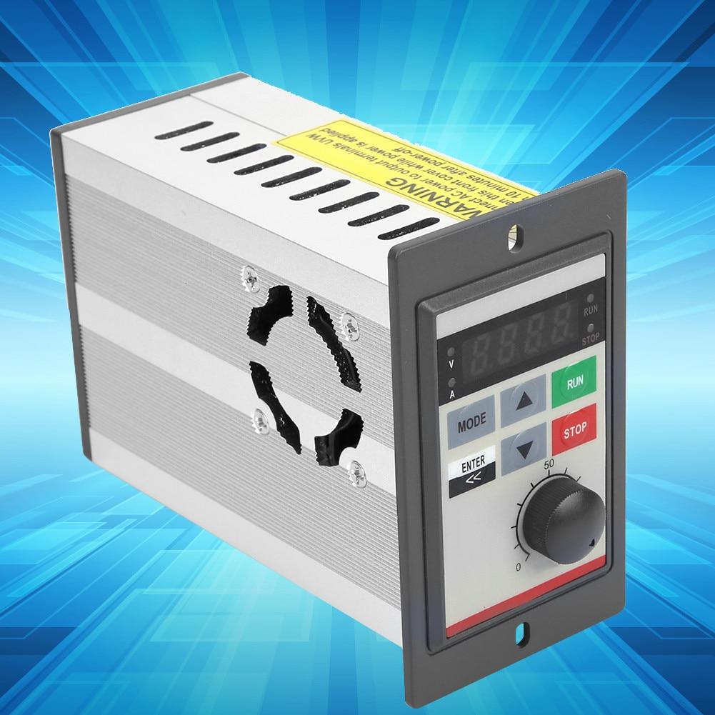 220V 0.2KW Mini VFD,Small Frequency Inverter Single Phase Micro Frequency Converter Variable Frequency Drive Motor Drive Inverter