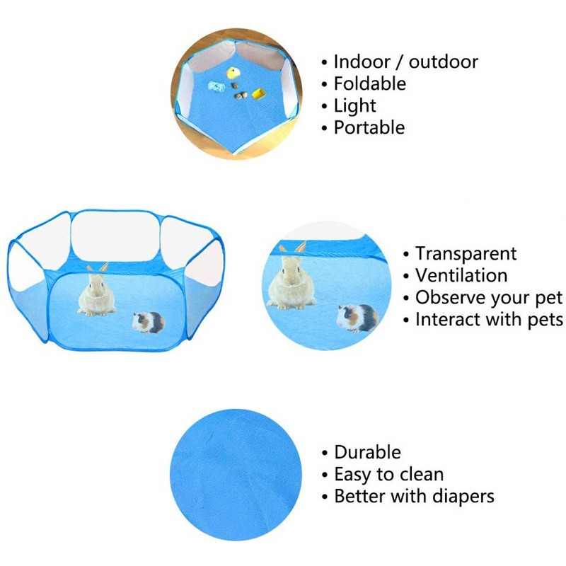 Accessory - Portable/fold-able Small Animals play Exercise Fence