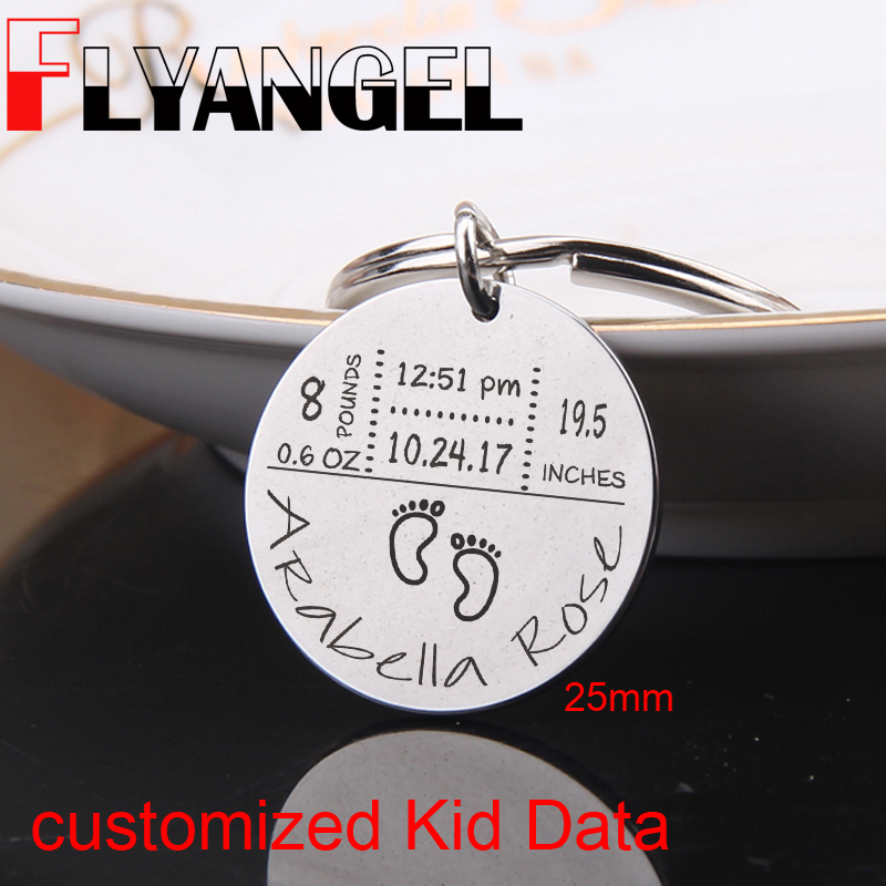 Personalised Birth Details Keyring//Bag Tag Ideal New Baby Gift