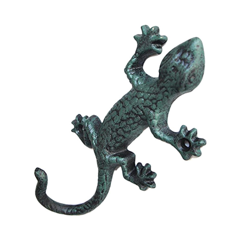 cast iron ornamental wall-mountable * new GECKO LIZARD WITH COAT-HOOK TAIL
