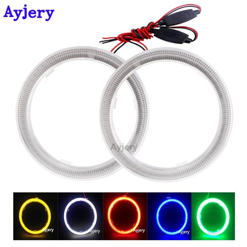7 Colors 40-130MM COB SMD Car LED Light Ring DRL Angel Eyes Halo Headlight Lamp