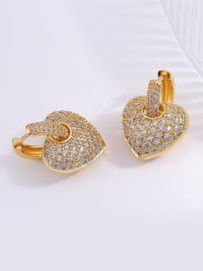 Heart-Earrings Weddi...