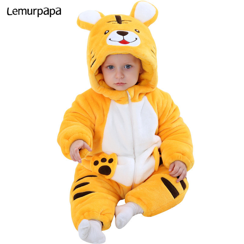 Kigurumi Baby Girl Boy Onesie Clothes Cartoon Puppy Romper Newborn Winter Zipper Jumpsuit Onesies Funny Kid Infant Party Costume