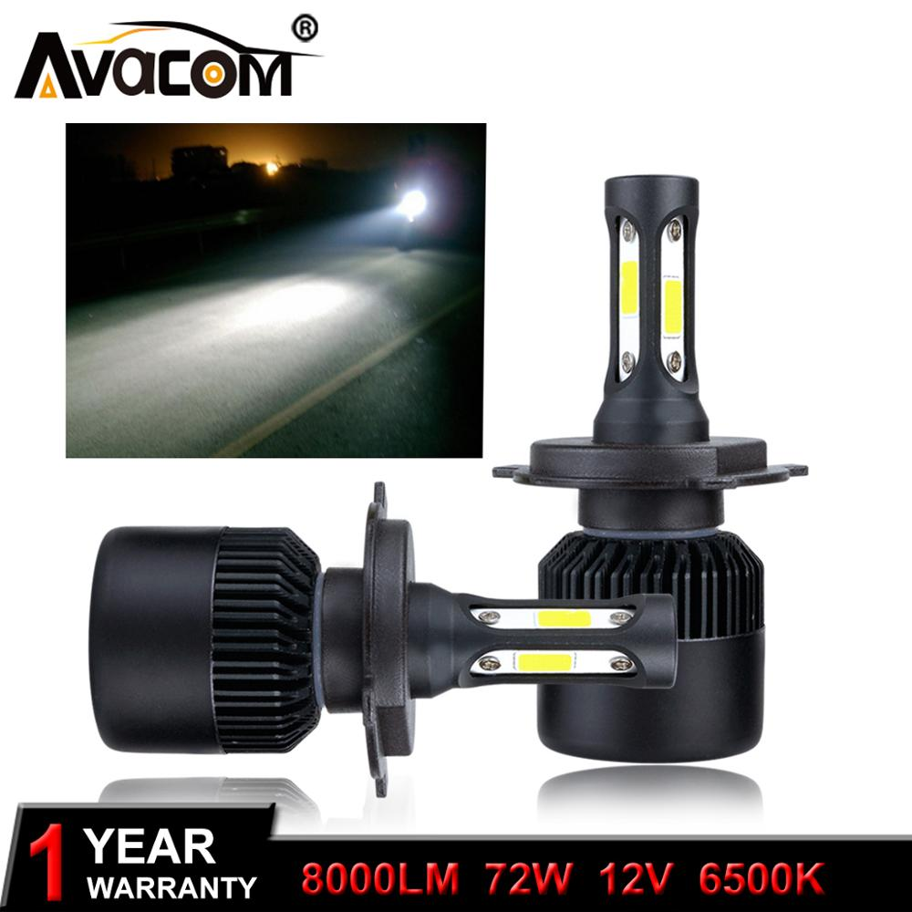 Avacom Headlights-Bulb Scooter Moto Motorbike H7 H1 2pieces 8000lm 6500K H3 12V LED  title=