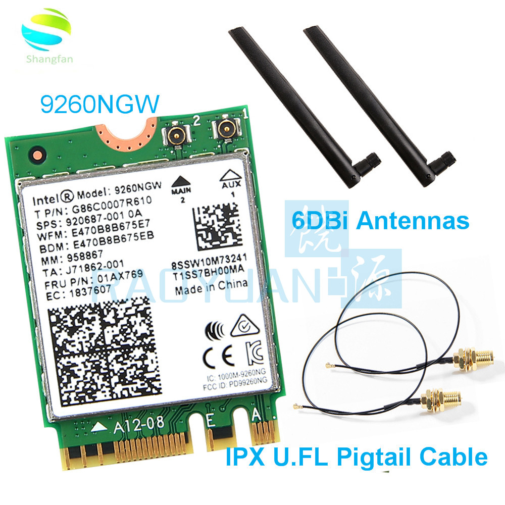 Wifi-Card 9260NGW Intel Bluetooth 5.0 Windows-10 Dual-Band NGFF for AC 9260ngw/9260ac/1.73gbps/.. title=