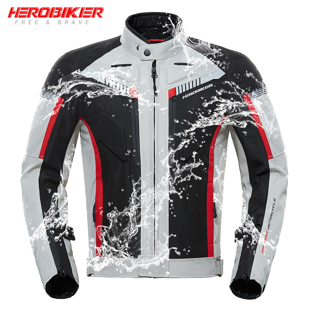 HEROBIKER New Autumn Winter Motorcycle Jacket Waterproof Windproof Moto Jacket Riding Racing Motorbike Clothing Protective Gear title=