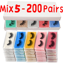 LEKOFO New mink lashes wholesale 30/50/100/200/3D false eyelashes bulk extension faux cils natural Fluffy Long Eye Lashes