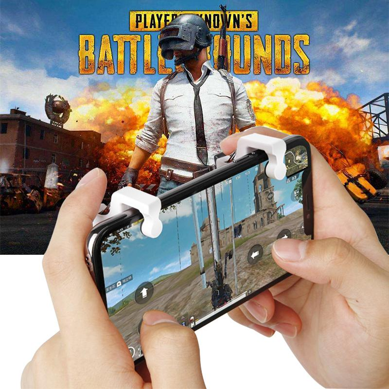 2PCS Pubg Mobile Controller L1R1 Shooter Trigger Fire Button PUBG Game Gamepad Controller For Smart Phone With Stand Function2