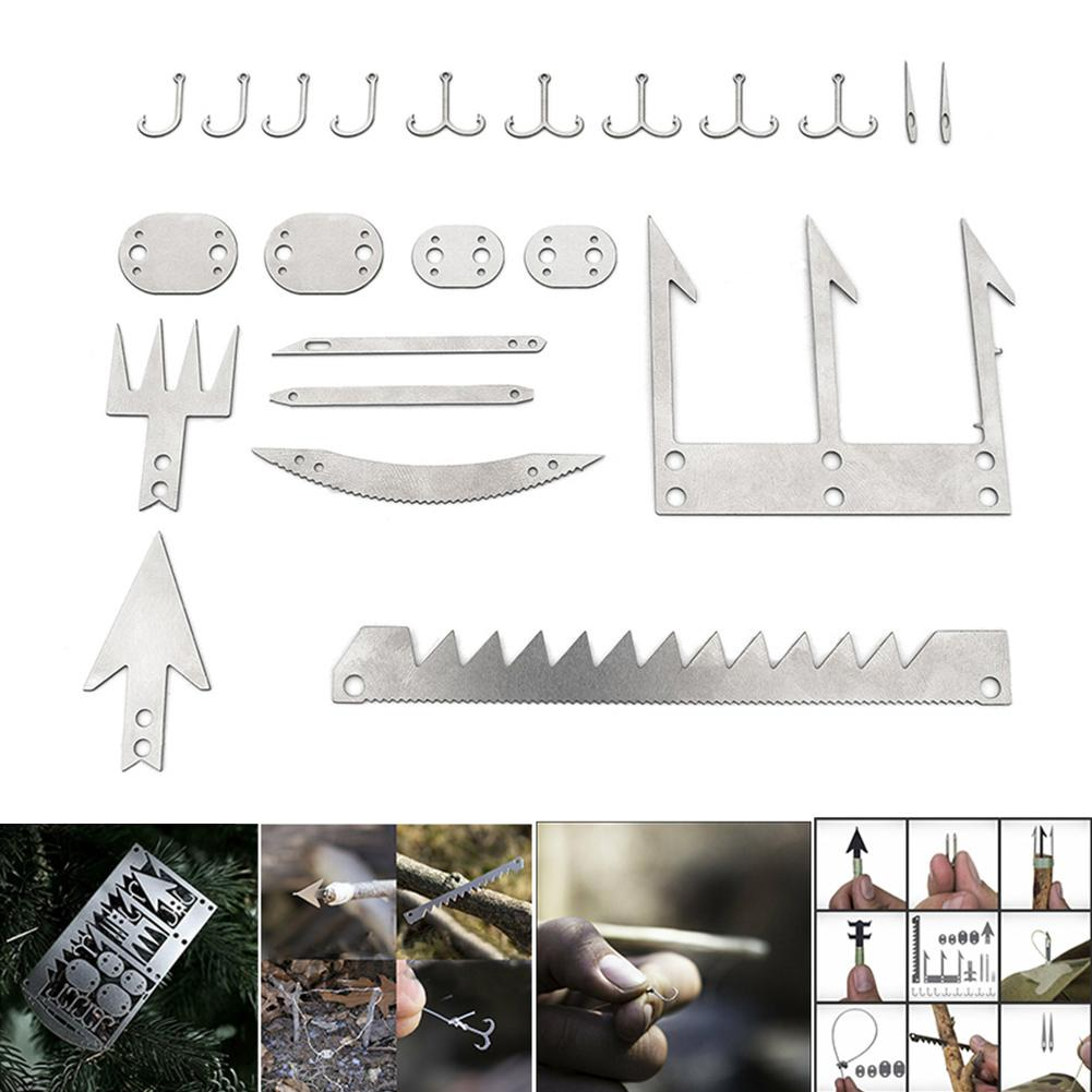 Camping Survival MultiTool Card Wilderness Survival Gear Kit for Hunting Hiking!