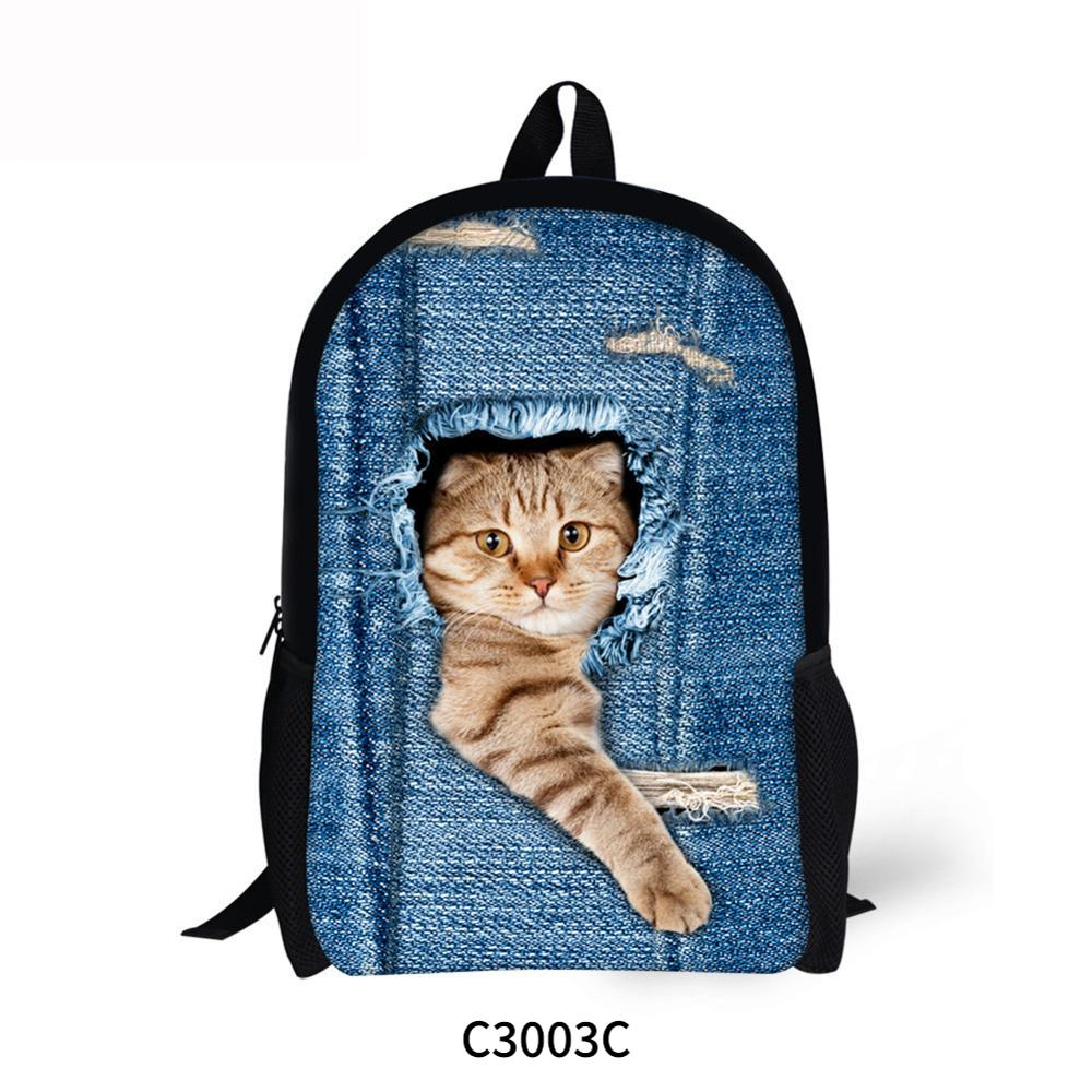 Unisex PU Leather Backpack Sleeping Black Cat Print Womens Casual Daypack Mens Travel Sports Bag Boys College Bookbag