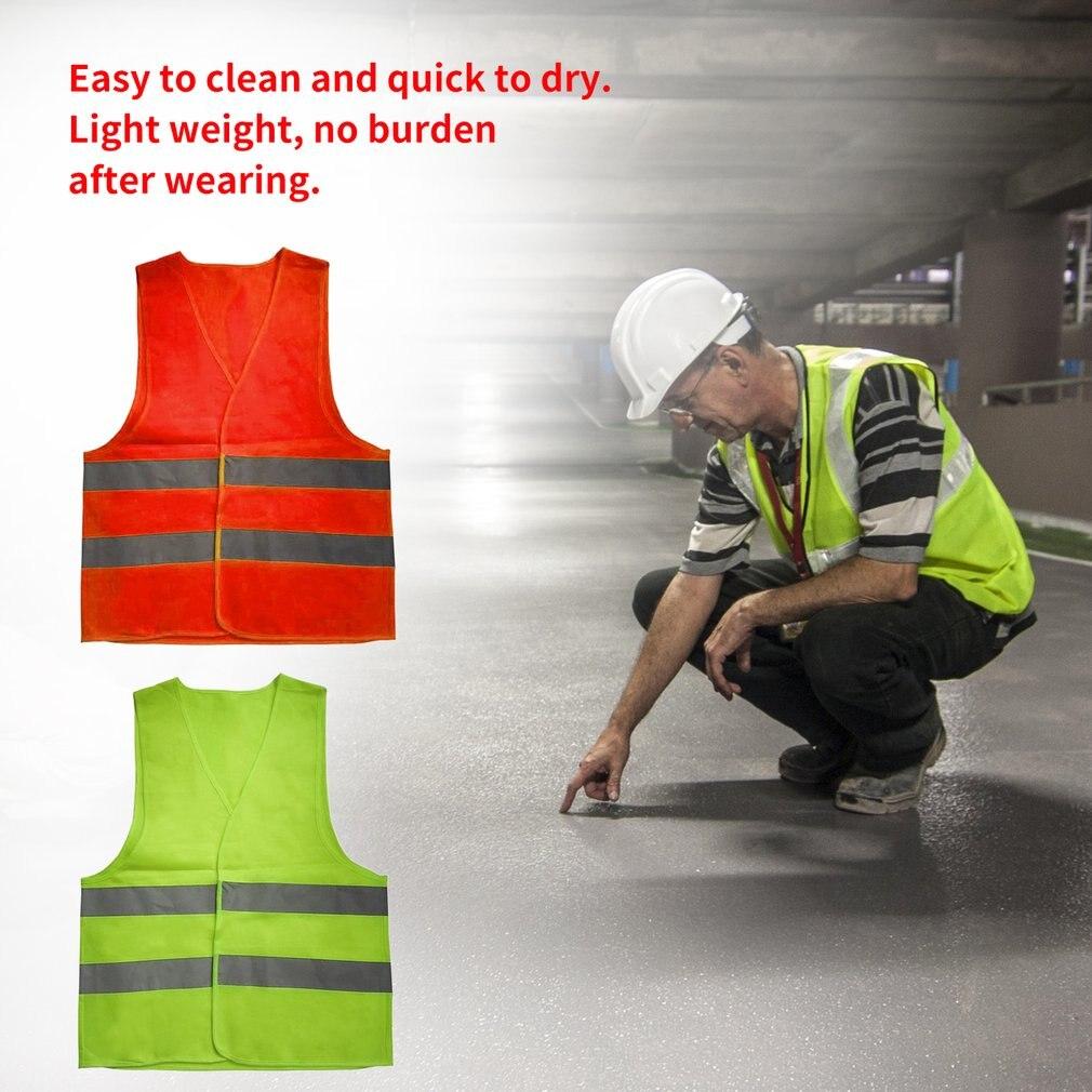 New hot Unisex  XL XXL XXXL Reflective Vest Workwear Provides High Visibility Day Night Running Cycle Warning Child Safety Vest