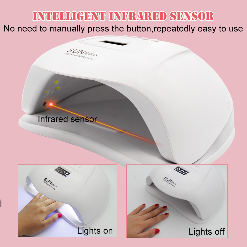 LKE Nail Dryer SUN X UV LED Nail Lamp 72/84W For All Gel Polish With Automatic Sensor LCD Display 4 Timer Ice Lamp Of Nails Art