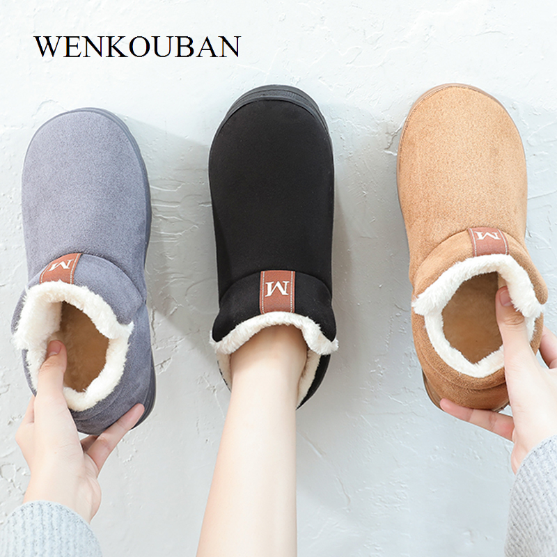 Slippers For Women Furry Slides Warm Winter Home Slippers Indoor Flats Shoes Ladies Furry Plush Couple Slippers Pantuflas Mujer