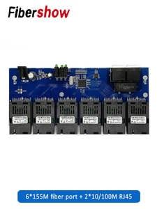 Converter Ethernet-Fiber RJ45 SC 2 6-155m Fiber-Port 20KM 10/100m-Pcba