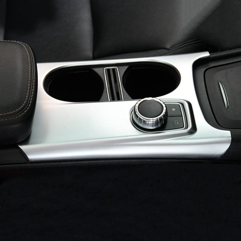 1x Carbon Fiber Central Console Panel Cover for Mercedes A Class CLA GLA 13-19