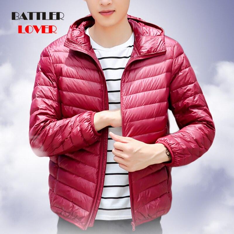 2019 Winter Fashion Brand Ultralight Duck Down Jacket Men