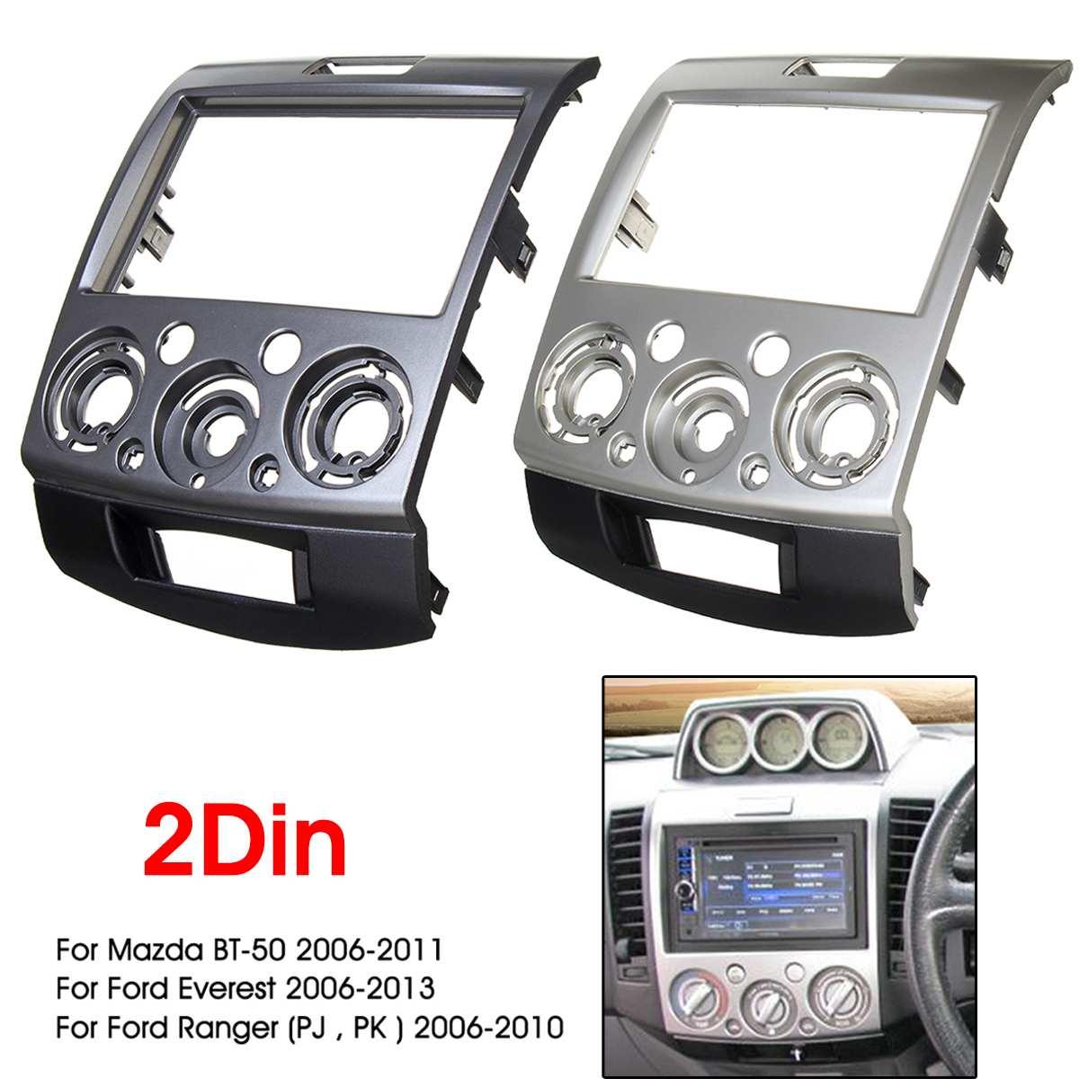 CT24FD40 Double Din Fascia Surround Trim Noir Pour Ford Focus 2004-2007
