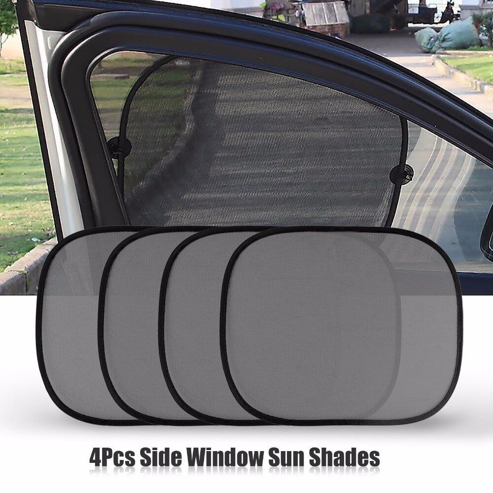 5Pcs Car Sun Visor Rear Side Window Sun Shade Mesh Fabric Sun Visor Shade  Cover Shield UV Protector Black Auto Sunshade Curtain|Front Window| -  AliExpress