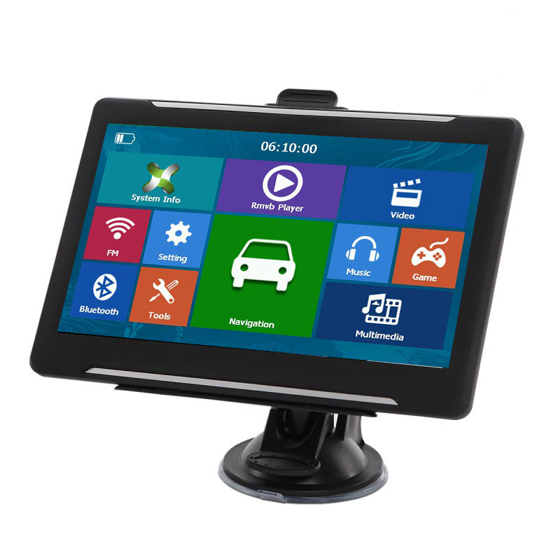 GPS Navigation Truck Sat Nav 7--Inch Car Touch 256/8GB Free-Maps New-Arrival title=