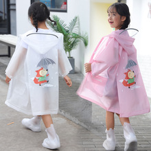 Kids Raincoat Jacket Backpack Children's Wateproof Position Cute