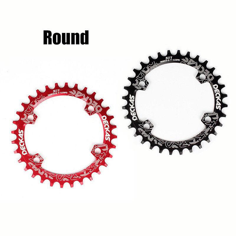 DECKAS Chainring 96BCD-S Narrow Wide MTB Chain Ring MTB Road Bicycle RoundOval Chainwheel 32-38T Fit SHIMANO XTR,XT,SLX (5)