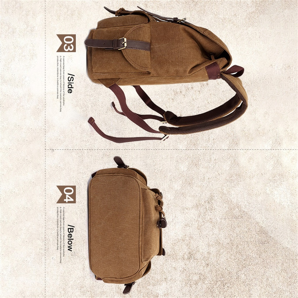 Bag - Aelicy Vintage Canvas Military Backpacks Men/Women School Backpacks