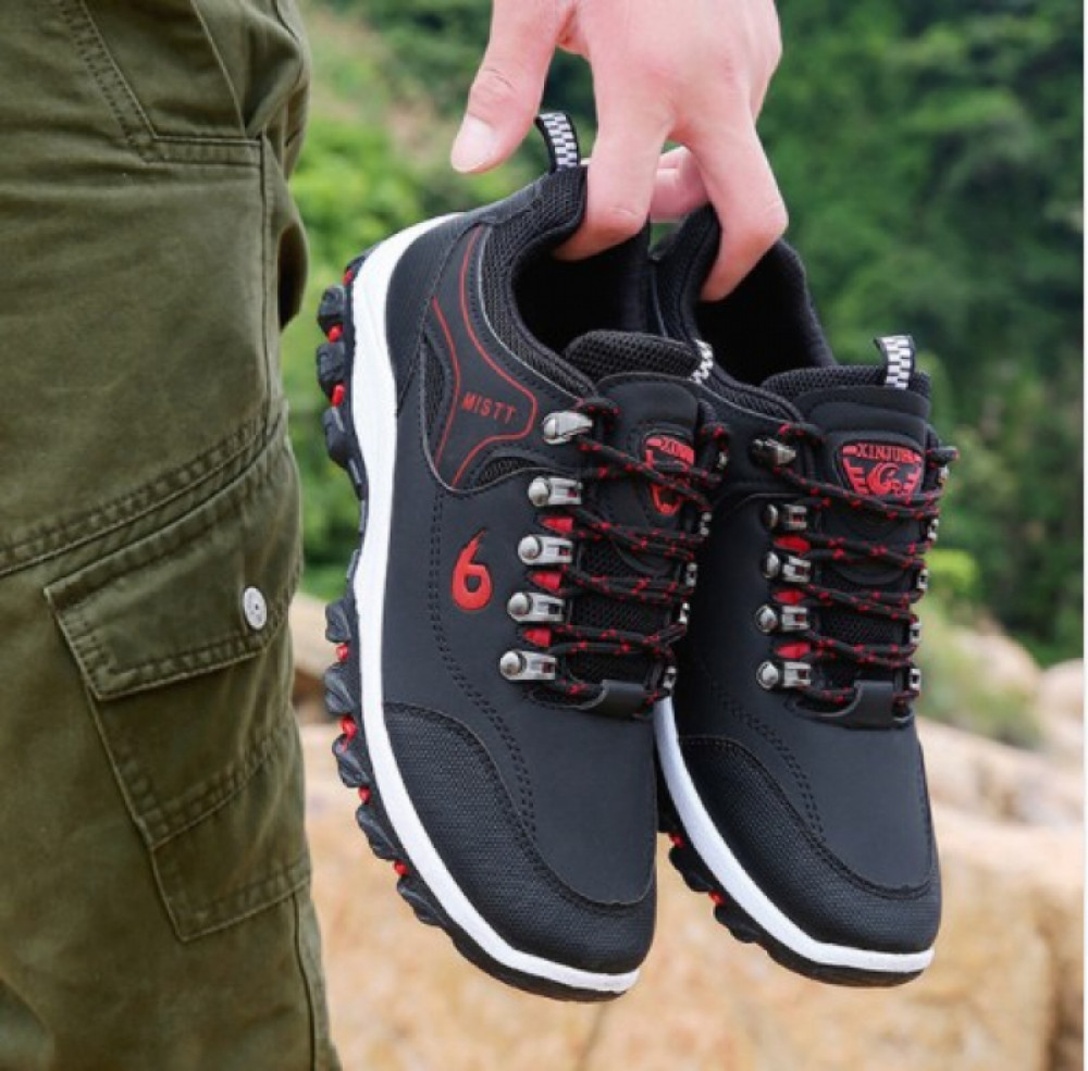 2019 Men Leather Outdoor Hiking Sneakers Male Shoes Adult Non-Slip Casual Military Army Shoes Autumn Hard-wearing Footwear