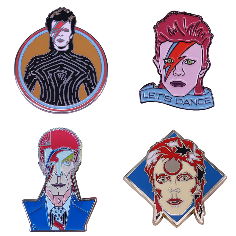 David Bowie 44cm x 34cm Wood Framed Metal Picture Art Ziggy Stardust Retro Music