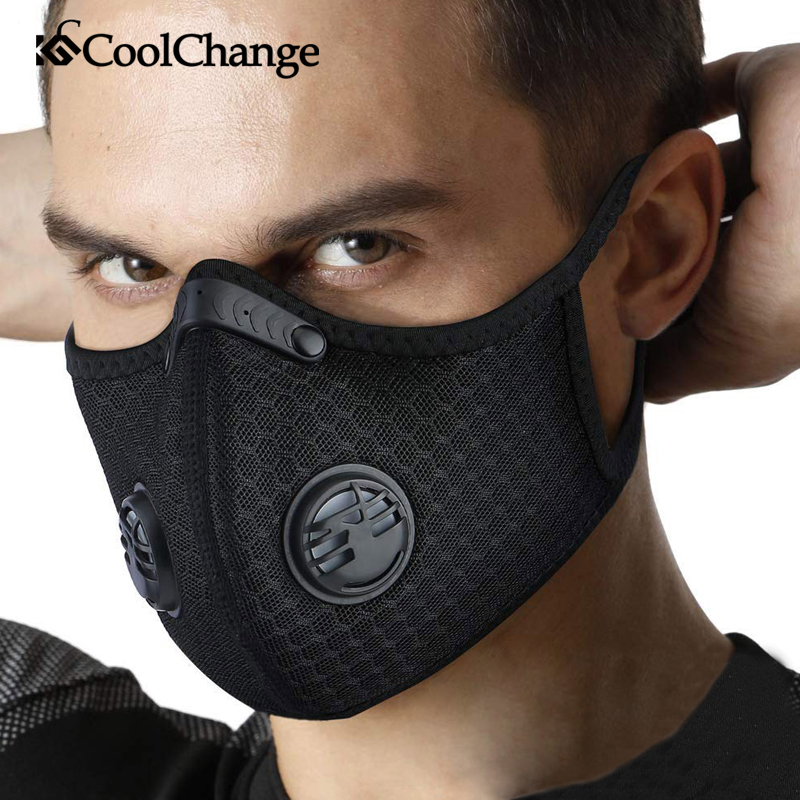 CoolChange Cycling Face Mask KN95 Activated Carbon With Filter PM2.5 Anti-Pollution Bike Sport Protection Dust Mask Anti-droplet title=