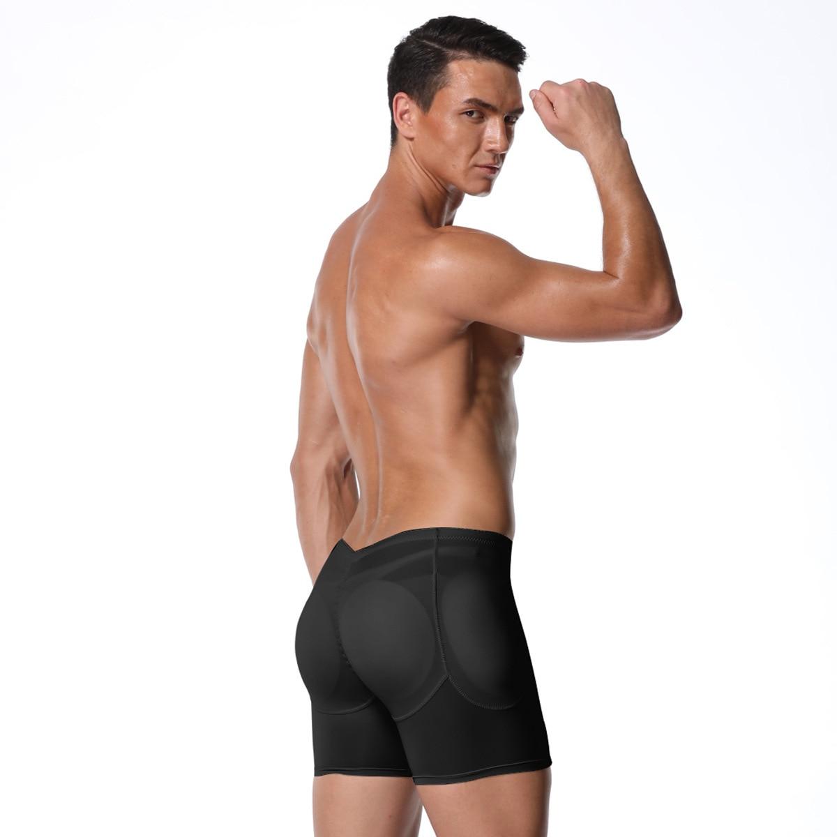 Slimming Shorts Underwear Men Butt Enhancer High Waist Body Shaper Panties Seamless Tummy Control Pants Shapewear Plus Size 6XL
