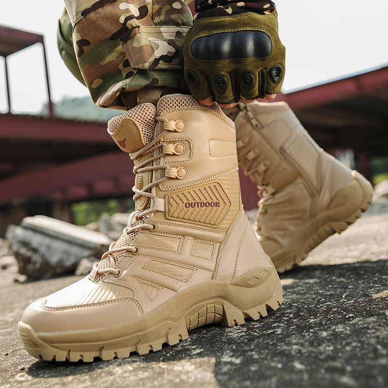 Mens Army Military Tactical Shoes Hiking Sports Desert Combat Boots Size Outdoor
