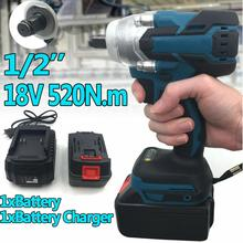 18V 520N.m Impact Wrench Electric Brushless Screwdriver Speed 1/2