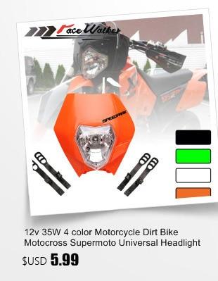 Universal Motorcycle Dual Fairing Headlight High Low Bicycle Lights DC12V 18W