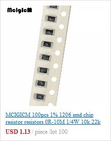 Lot de 100 résistances CMS SMD 1206 10R 5/%