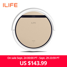 ILIFE Vacuum-Cleaner Suction Robot Pet-Hair Powerful Hard-Floor Recharge Automatic Sweep--Wet-Mop