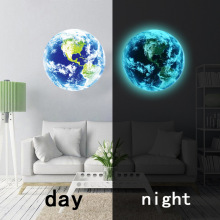 Hot sale 5cm 1PCS Luminous blue earth Cartoon DIY 3d Wall Stickers for kids rooms bedroom