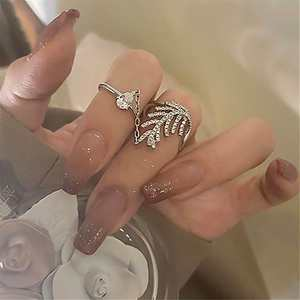 SLuxury Leaf Rings Fo...