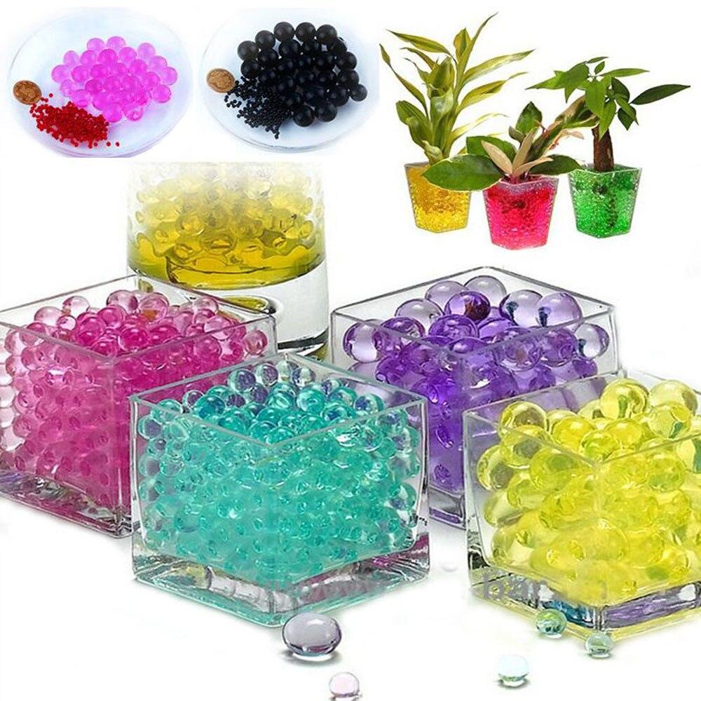 1000 sztuk Jelly Fruit Orbiz Pearl Shape miękki kryształ gleby koraliki wody magiczna kula ślub Home Ornament roślin kultywowania dekoracji -