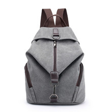 2020 Women's Canvas Outdoor Female Sports Backpack Large Capacity Zipper Travel Bag Backpacks School Gym Fitness Backpack