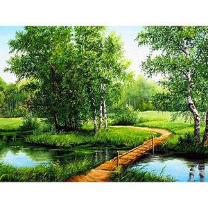 10 stücke Wald Scenics Grünpflanzen Grüne Kiefer Landschaft Landschaft