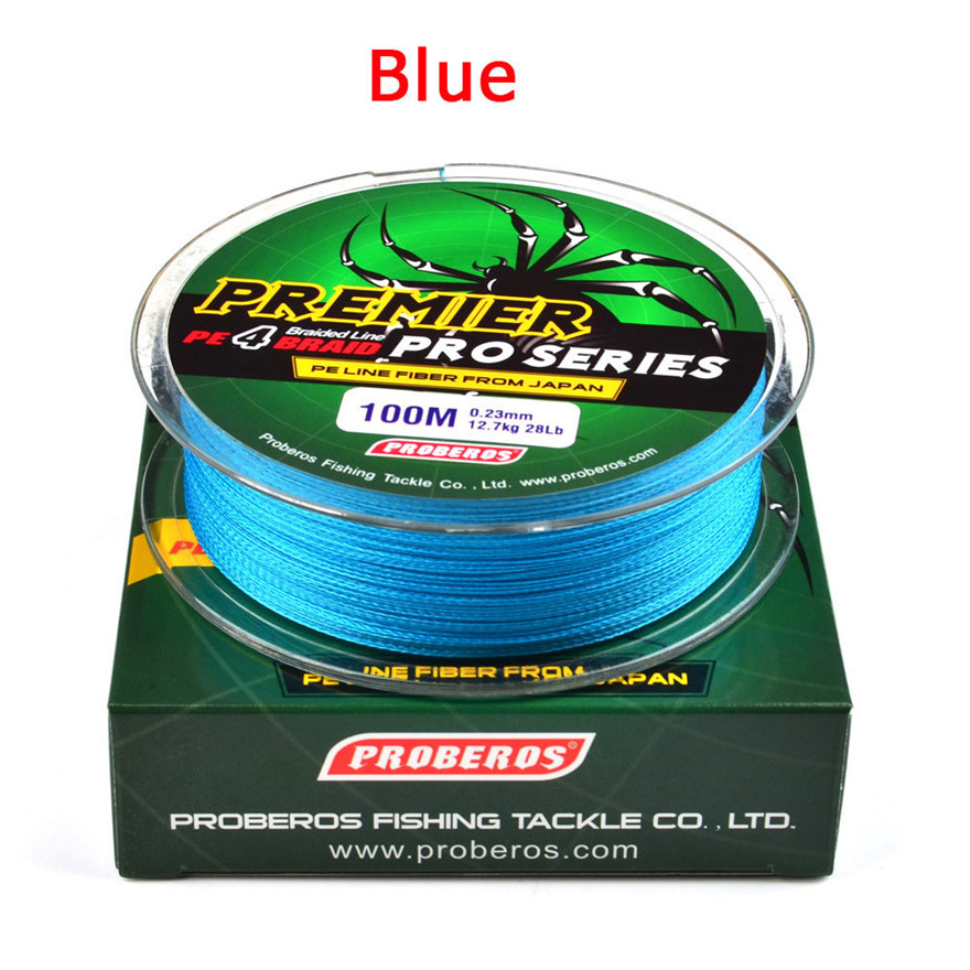 Line Hercules-Line 100m PROBEROS4 Lead-Hook 100-Lbs Gray/green 5-Color title=