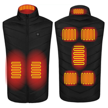 PARATAGO 2020 Heated Vest Men Women Electric Heating USB Vests Carbon Camping Heat Jacket Hunting Fishing Graphene P8101-8
