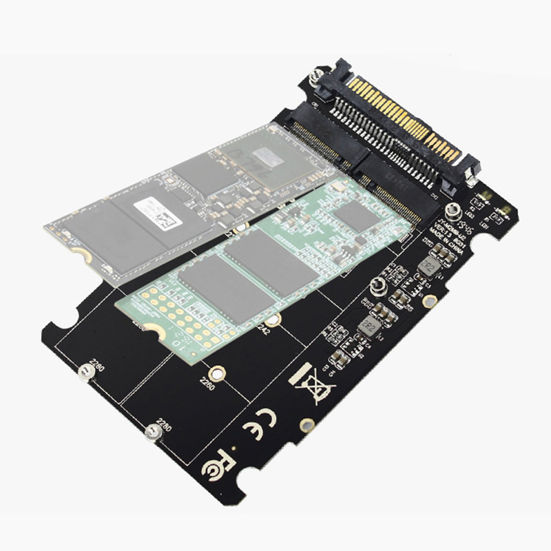M.2 NVMe SATA-Bus NGFF SSD to PCI-e U.2 SFF-8639 Adapter PCIe M2 Converter 2 in1