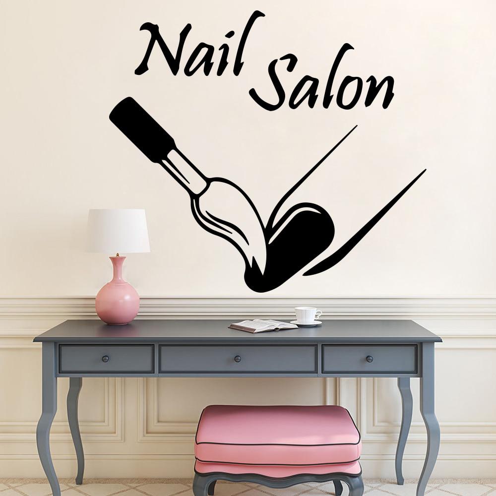 Nail Salon Manicure Beauty Girls Bedroom Wall Vinyl Decal Sticker V409