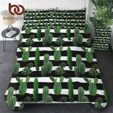 BeddingOutlet Tropical Cactus Bedding Set Succulents Duvet Cover Set Green Plant Flower Bed Cover Arrow Botanical Home Textile(China)