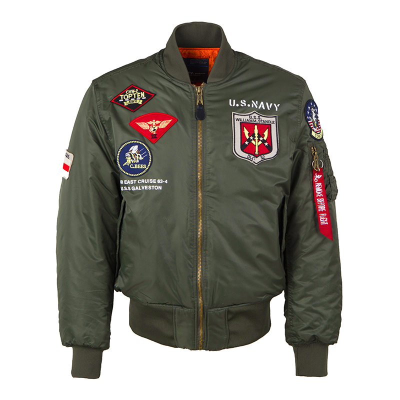 2020a/w winter top gun bomber flight jacket varsity tactical MA-1 air force army vintage pilot motorcycle us navy for men coat
