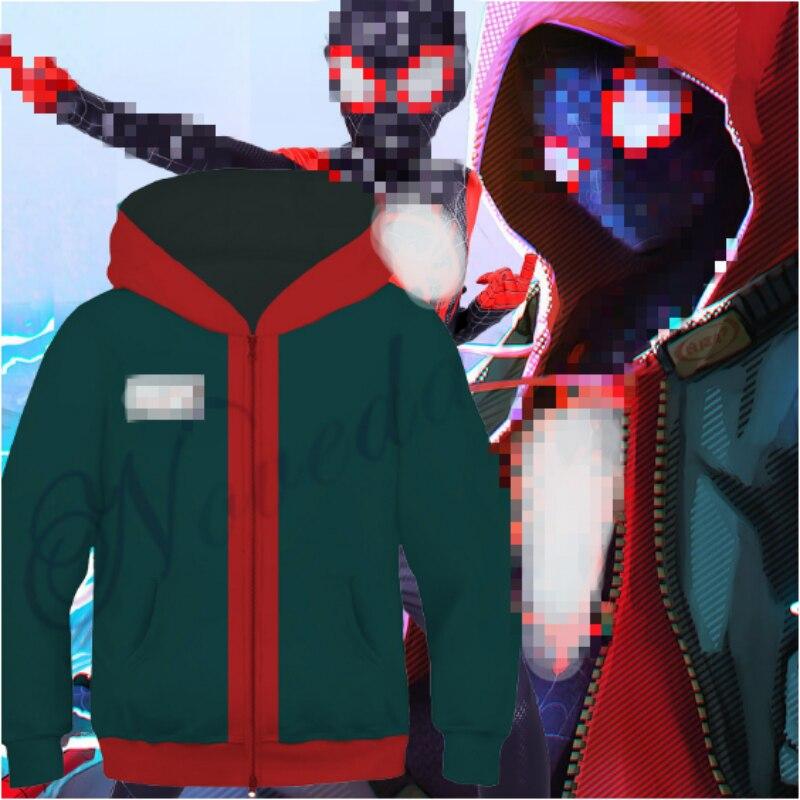 Kids Boys Hoodie Children Zipper Hooded Jacket Coat Hooded Tops Cosplay Costume
